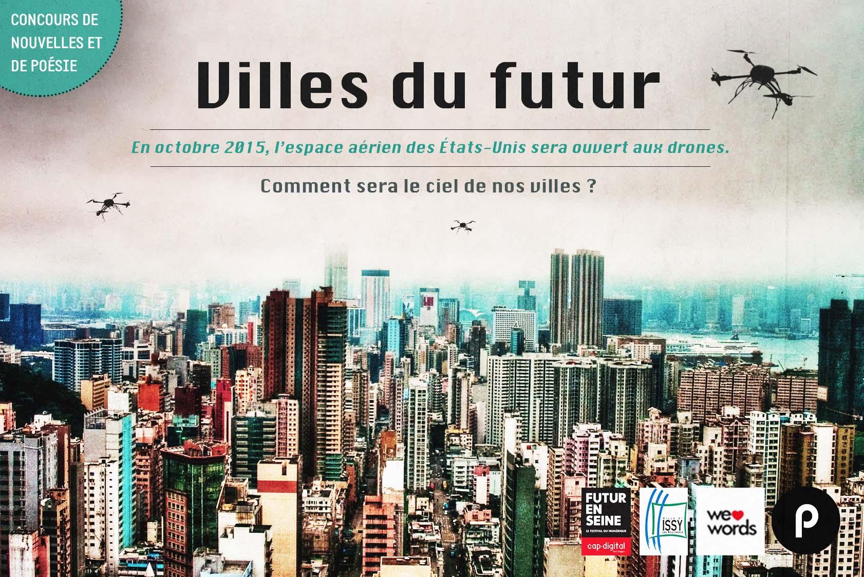 Villes du futur des drones dans le ciel concours en - Comment sera le futur ...
