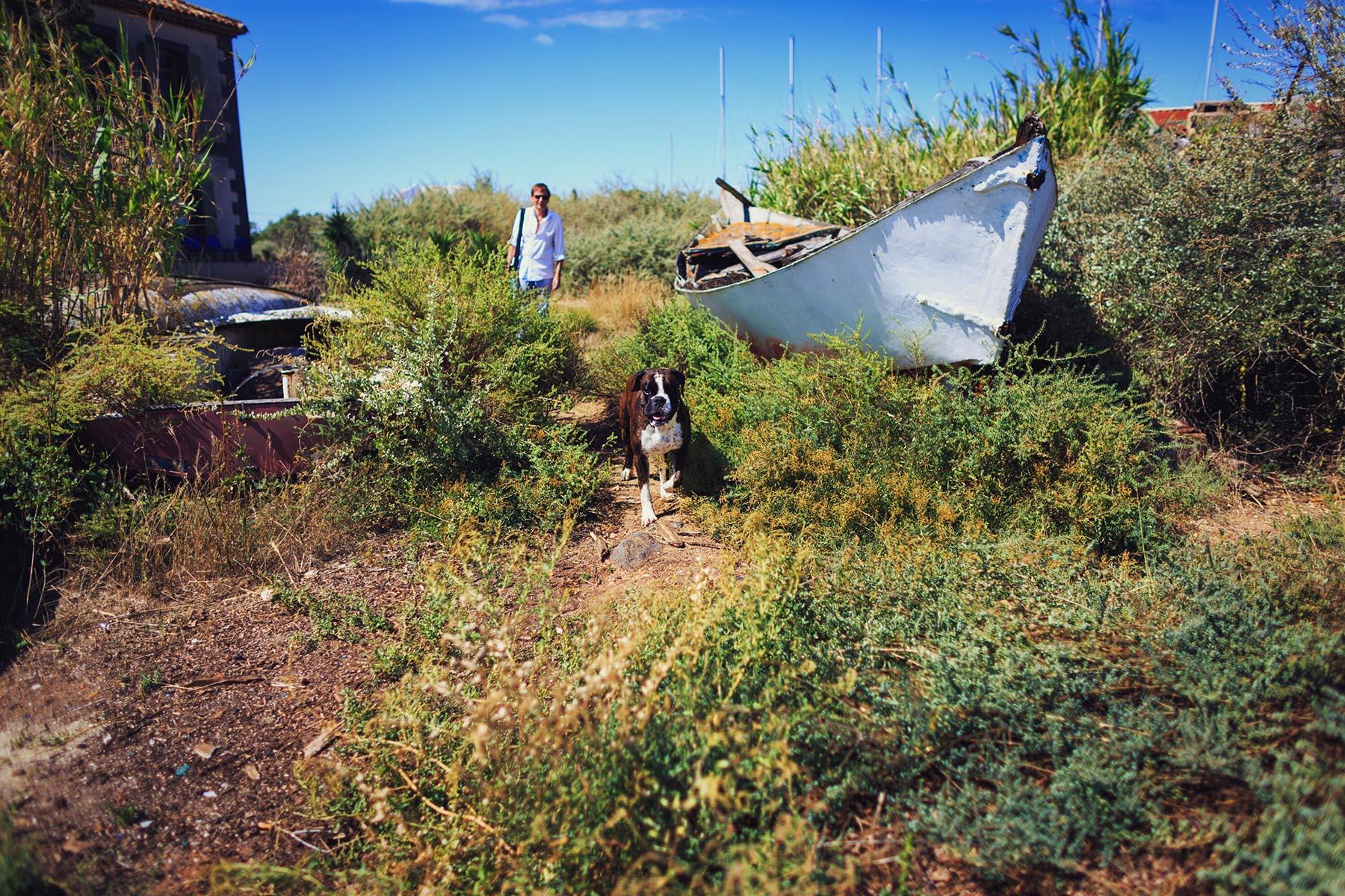 L'auteur dans son milieu naturel… et celui de Mô, par la même occasion ! — Photographie © Louise Imagine